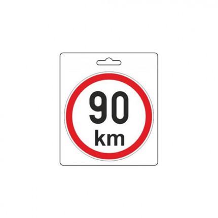 Osobní automobily - Samolepka omezená rychlost 90km/h (150 mm)