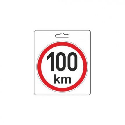 Osobní automobily - Samolepka omezená rychlost 100km/h (150 mm)