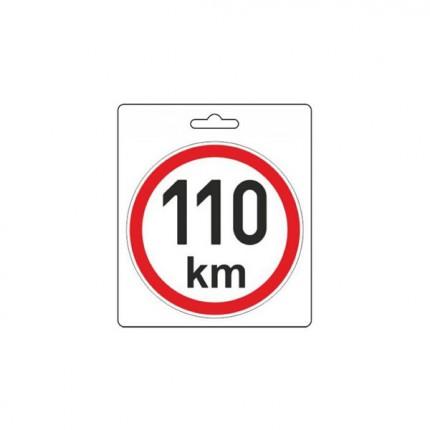Osobní automobily - Samolepka omezená rychlost 110km/h (150 mm)