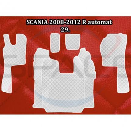 TIR, BUS a karavan - Koberce koženkové prošívané pro SCANII automat 2008-2012