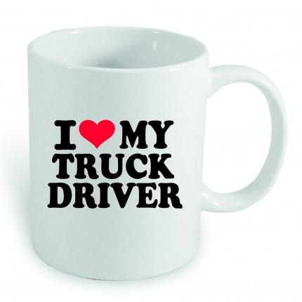 """Textil, Dárky - Hrneček s potiskem """"I LOVE MY TRUCK DRIVER"""""""