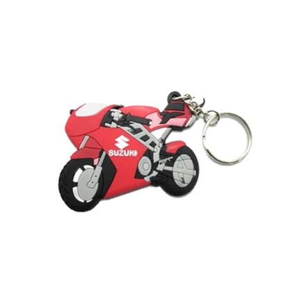 Motocykly, skútry - Klíčenka - Suzuki / červená