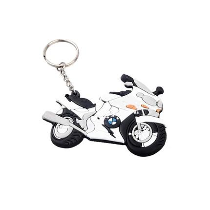 Motocykly, skútry - Klíčenka - BMW  / bílá